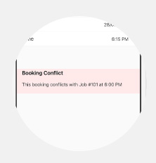 Booking Conflicts Feature