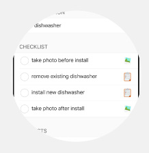 Photo Checklist item Feature